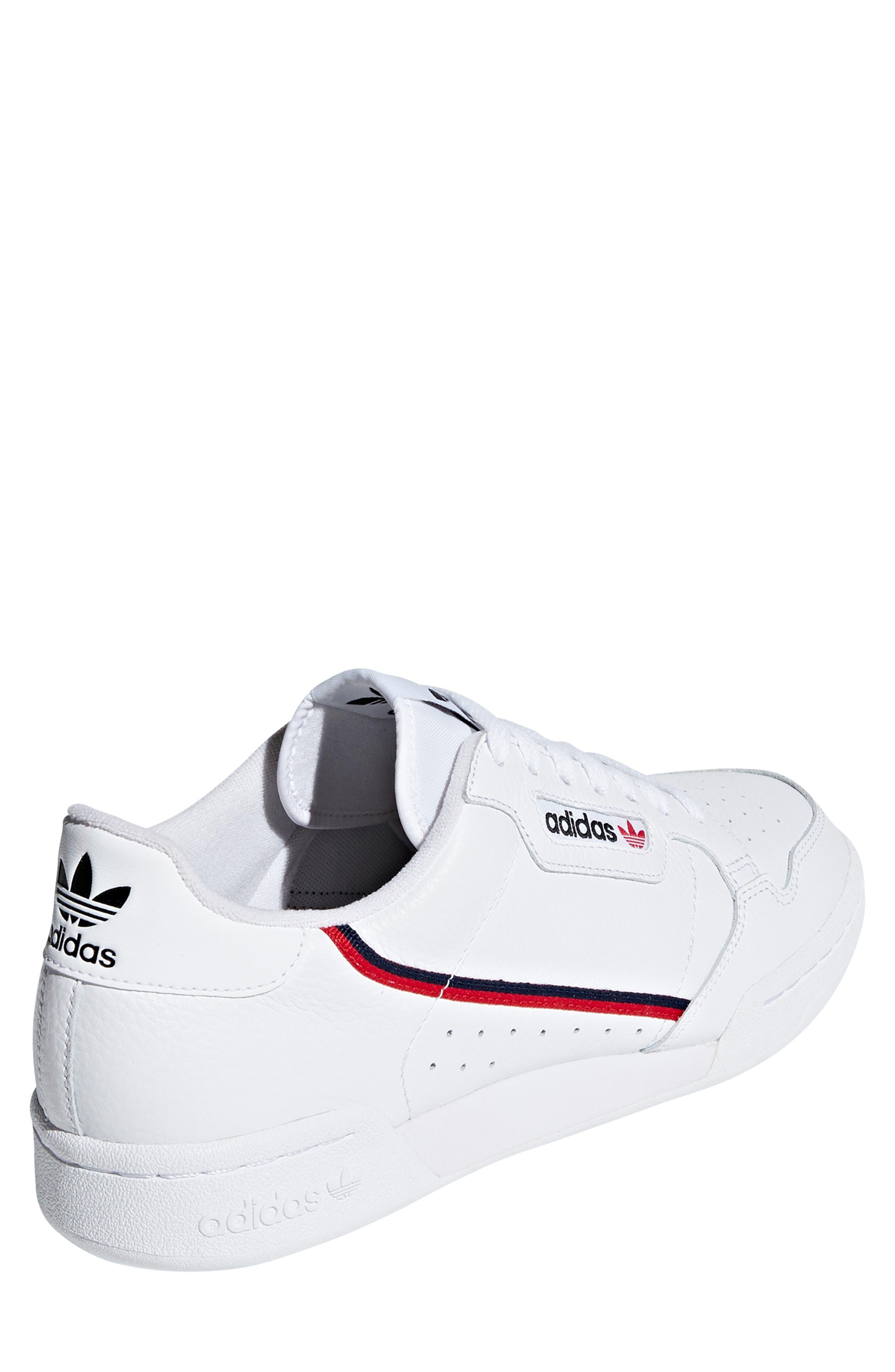 ,                             Continental 80 Sneaker,                             Alternate thumbnail 2, color,                             WHITE/ SCARLET