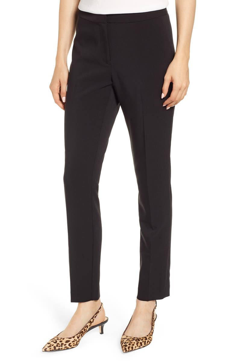 VINCE CAMUTO Milano Twill Skinny Ankle Pants, Main, color, 006