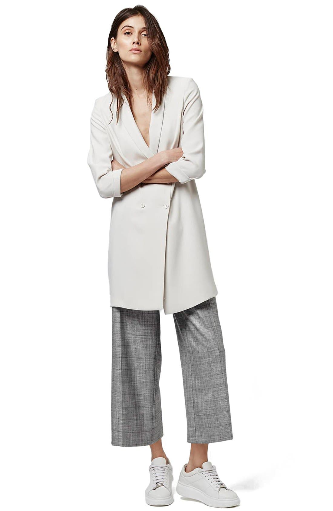 ,                             Slouchy Longline Blazer,                             Alternate thumbnail 4, color,                             100