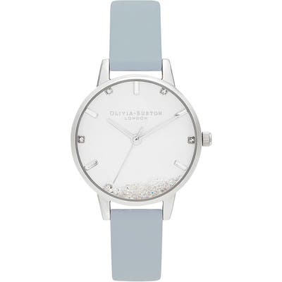 Oliva Burton Wishing Faux Leather Strap Watch, 30Mm