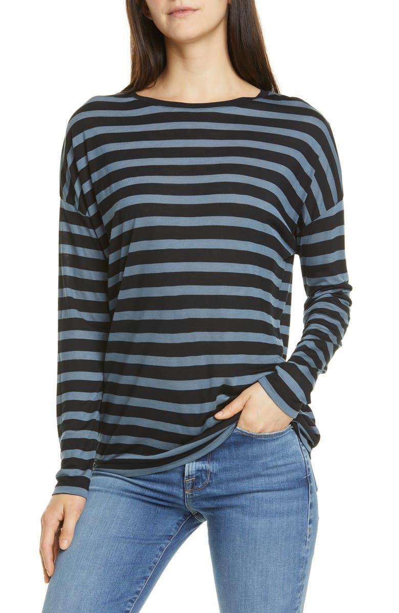VINCE Drop Shoulder Stripe Tee, Main, color, 491