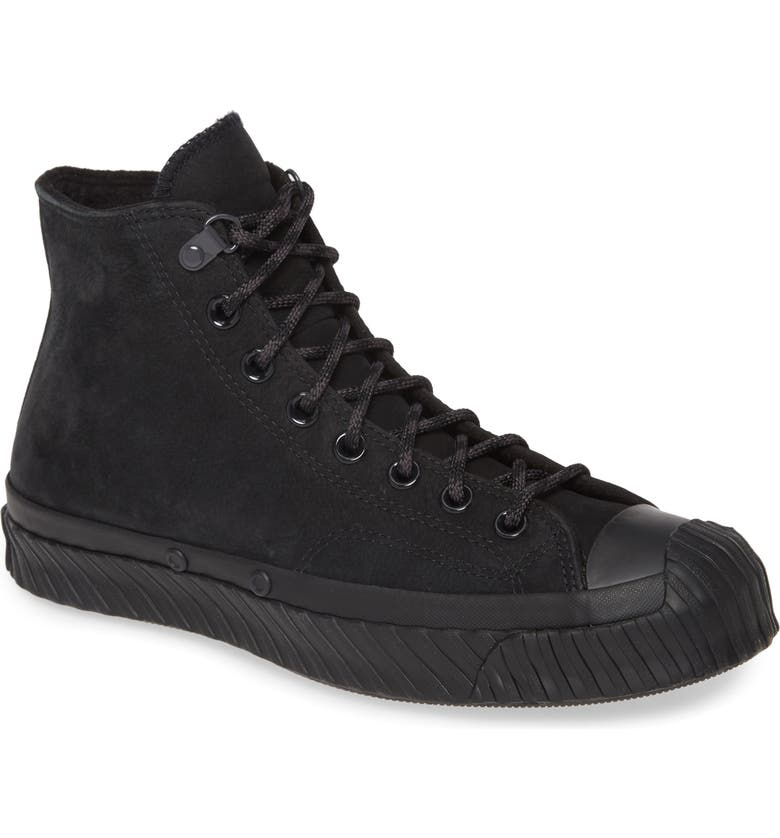 CONVERSE Chuck Taylor<sup>®</sup> All Star<sup>®</sup> Bosey Water Repellent High Top Sneaker, Main, color, BLACK/ ALMOST BLACK/ BLACK