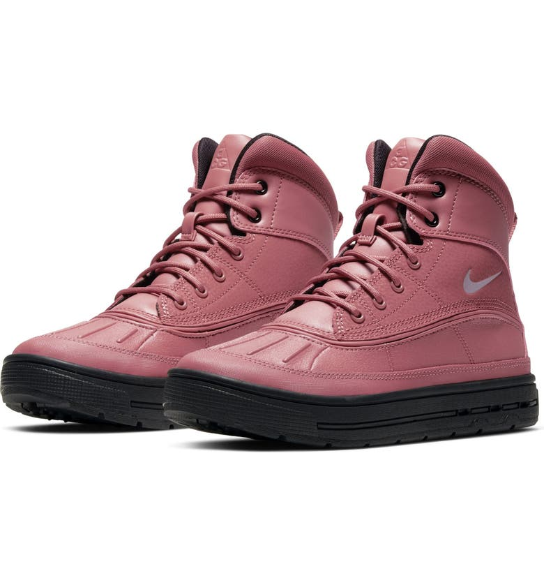 NIKE 'Woodside 2 High' Boot, Main, color, LIGHT REDWOOD/ BLACK/ SILVER