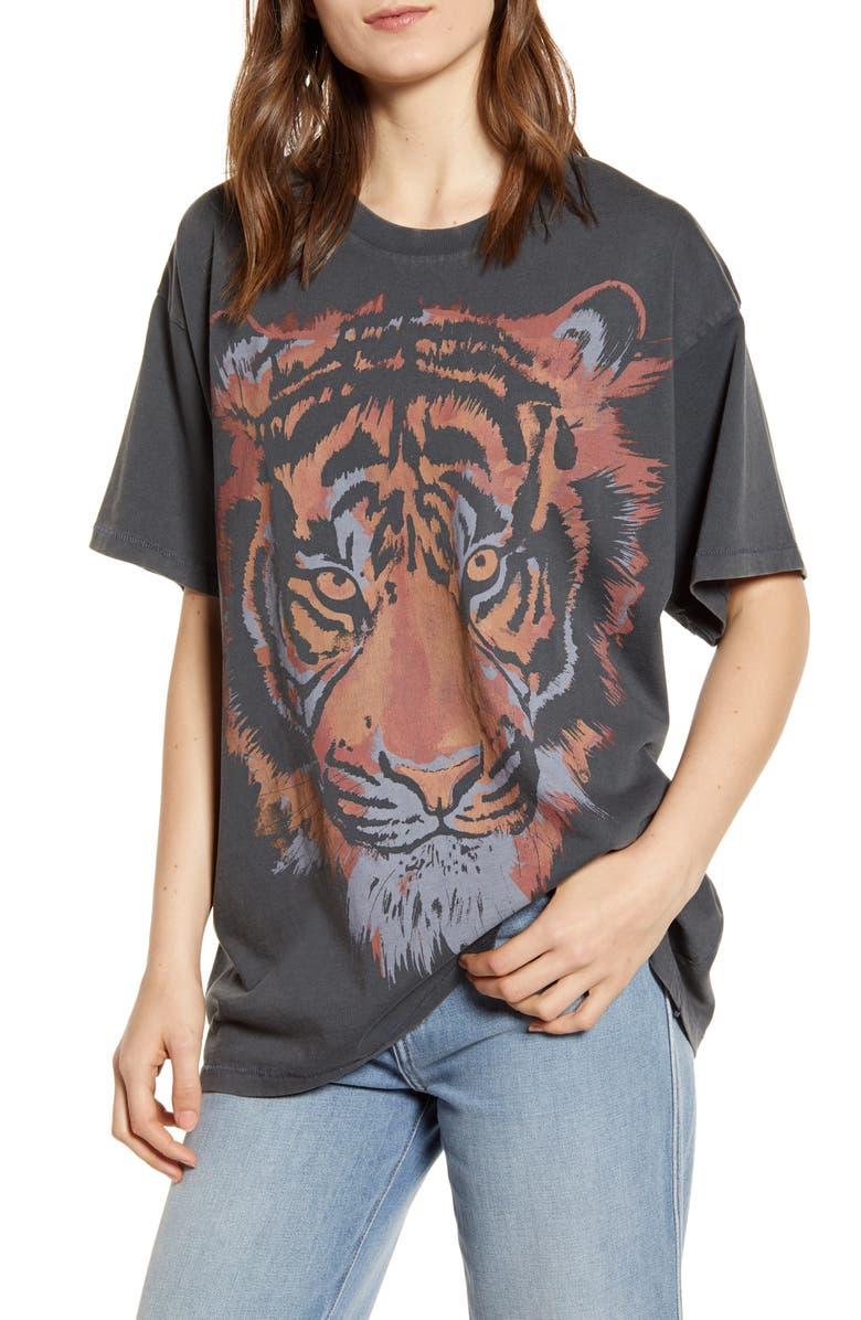 Wrangler Tiger Graphic Oversize Tee Nordstrom