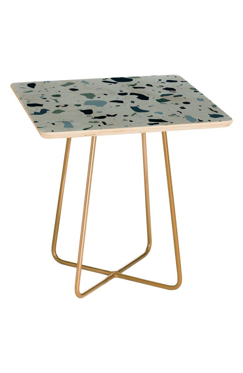 DENY DESIGNS Terrazzo Side Table, Main, color, BLUE