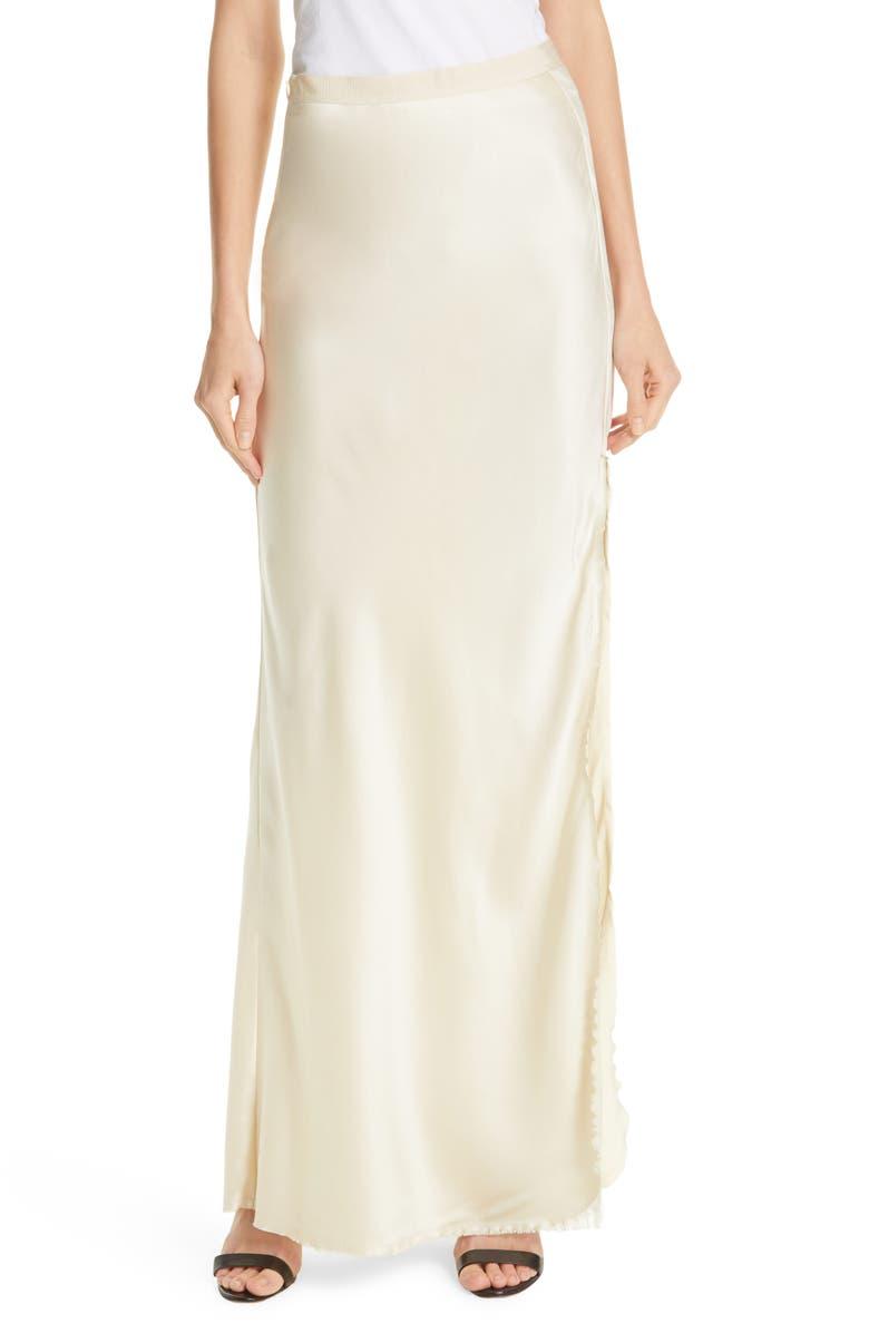 NILI LOTAN Azalea Silk Evening Skirt, Main, color, DUNE