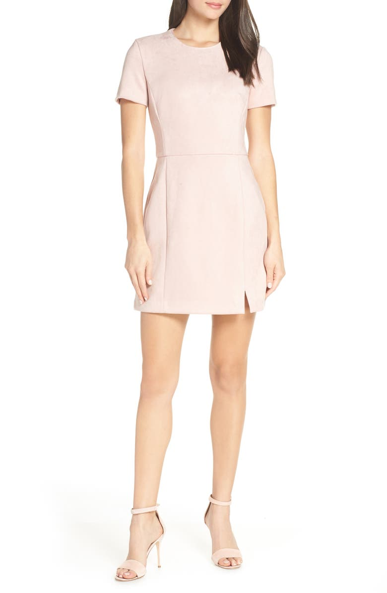 24c30d05a21 French Connection Short Sleeve Faux Suede Dress | Nordstrom