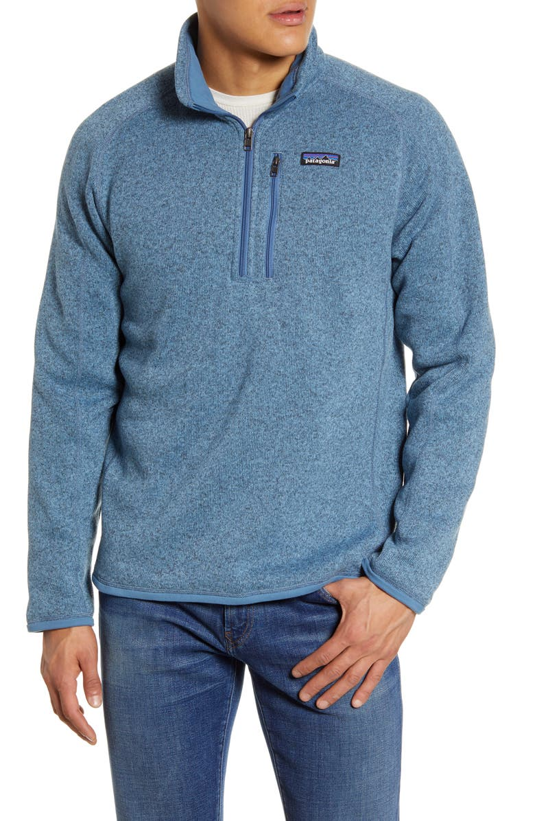 PATAGONIA Better Sweater<sup>®</sup> Quarter Zip Pullover, Main, color, PIGEON BLUE