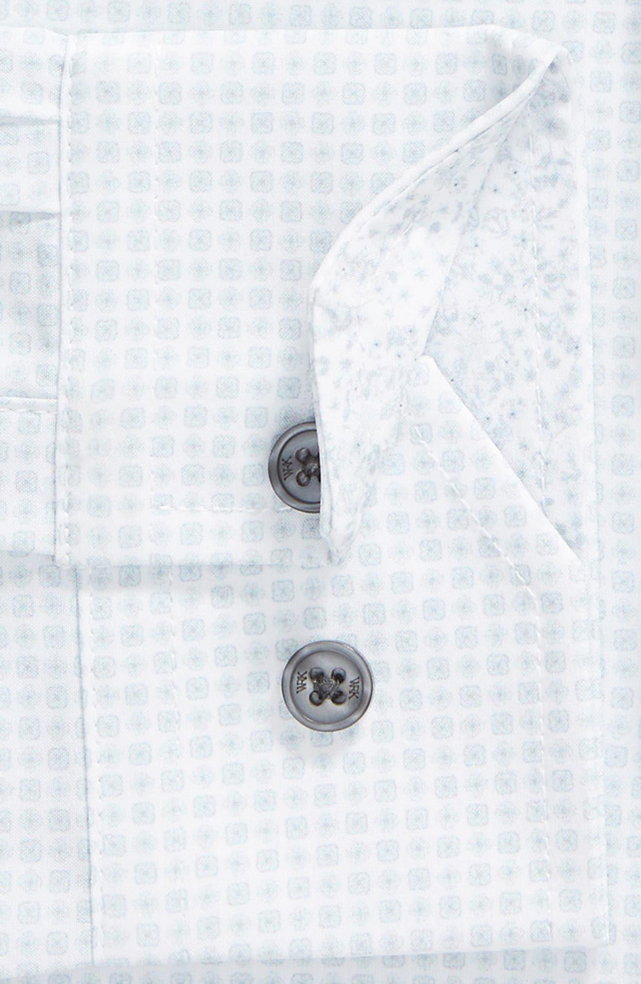 ,                             Slim Fit Performance Stretch Check Dress Shirt,                             Alternate thumbnail 6, color,                             GREY