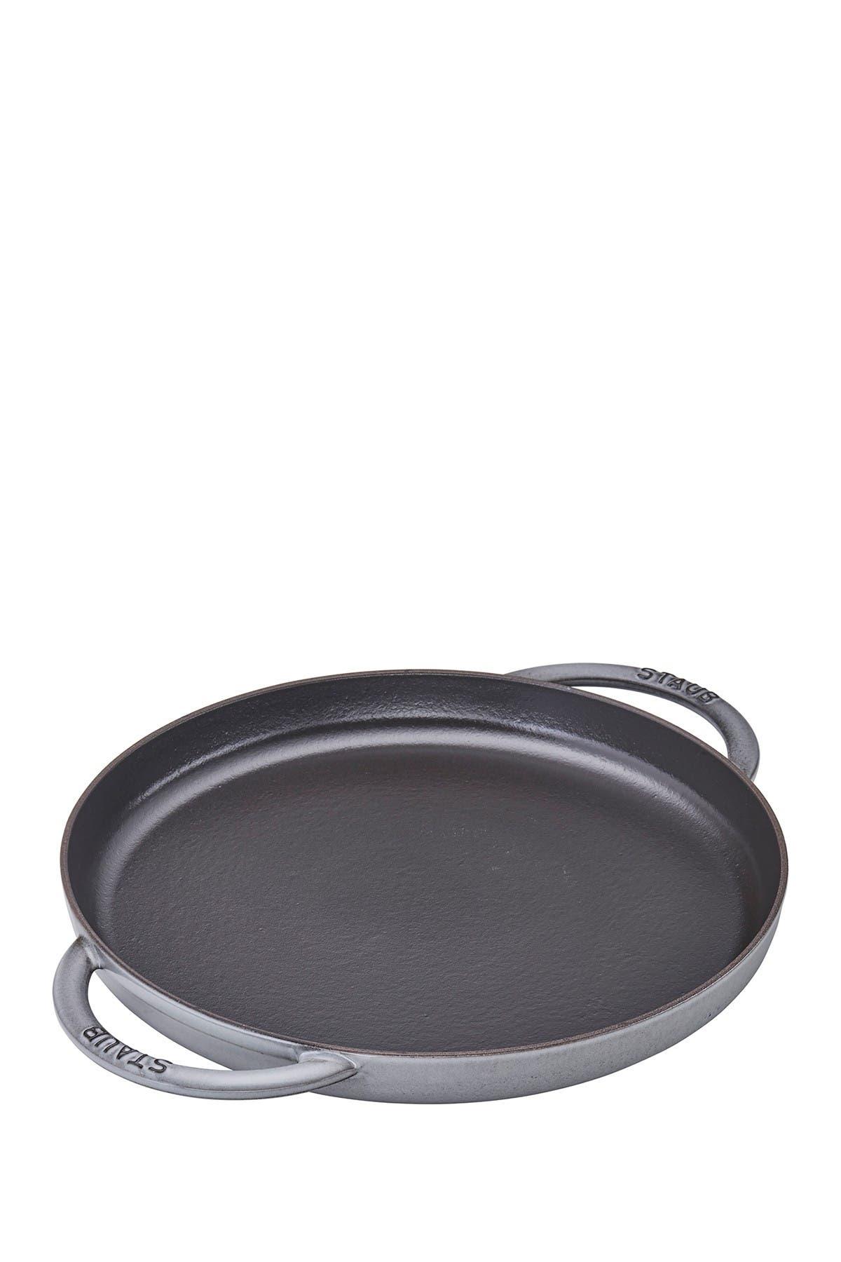 "Image of Staub Cast Iron 12"" Round Griddle Pan - Graphite"