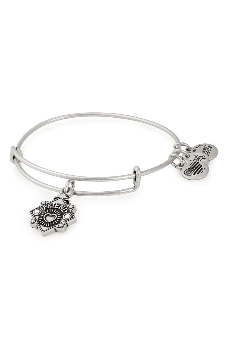 ALEX AND ANI Because I Love You Friend Bracelet, Main, color, SILVER