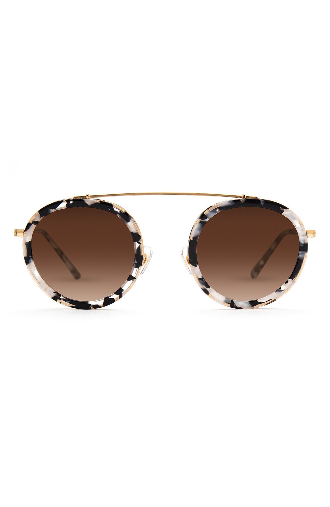 Conti 46mm Gradient Round Sunglasses