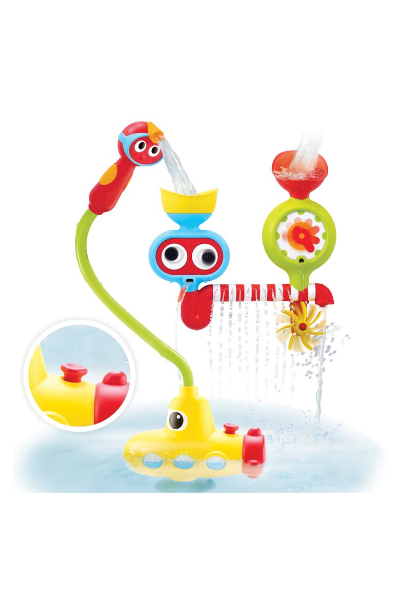 YOOKIDOO Submarine Spray Station Bath Activity Center, Main, color, YELLOW
