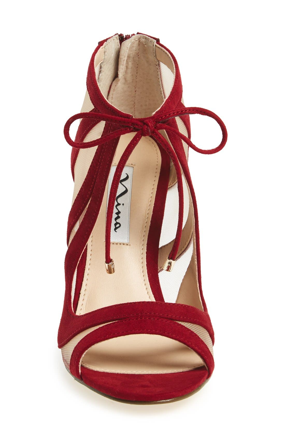 ,                             Cherie Illusion Sandal,                             Alternate thumbnail 2, color,                             CRANBERRY SUEDE