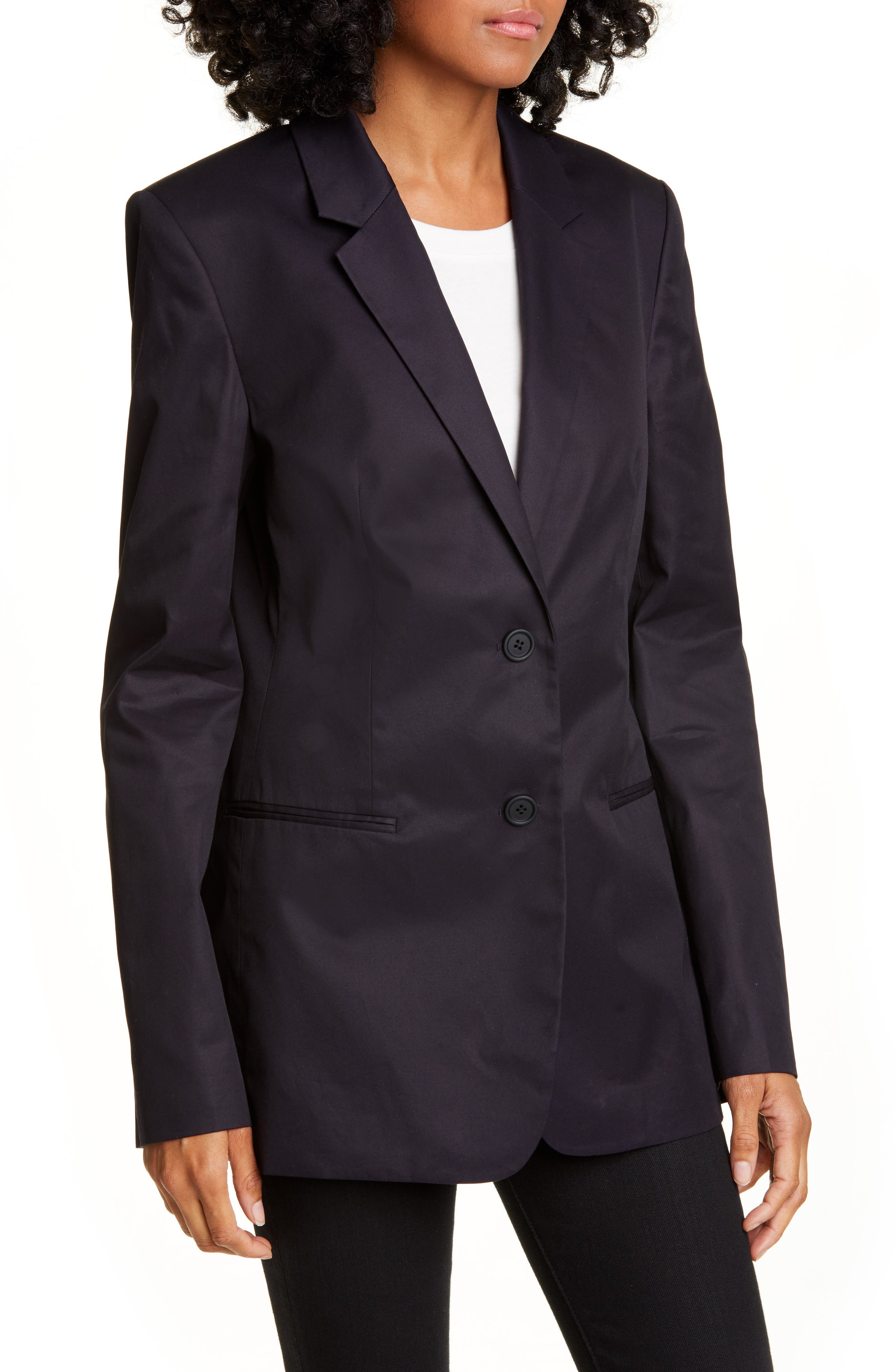 Helmut Lang Blazers Resin Cotton Twill Blazer