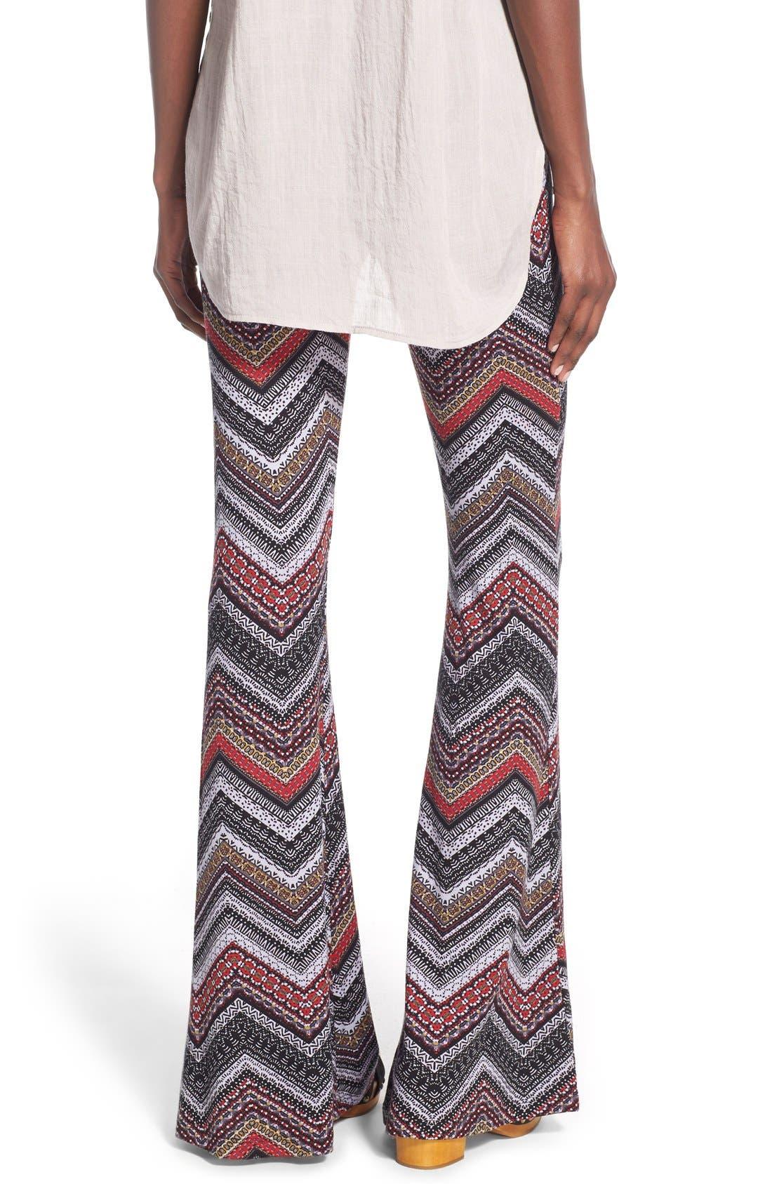 ,                             Mixed Print Flare Leg Pants,                             Alternate thumbnail 57, color,                             086