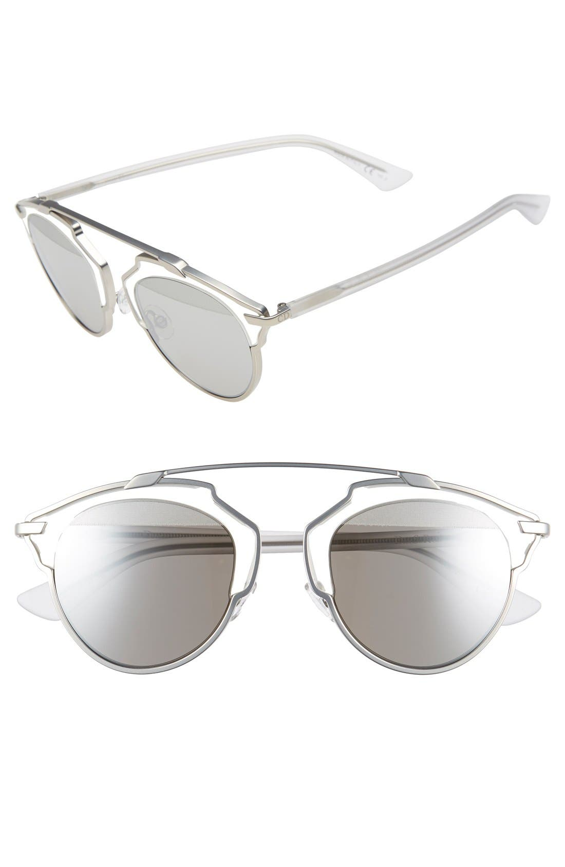 ,                             So Real 48mm Brow Bar Sunglasses,                             Main thumbnail 42, color,                             047