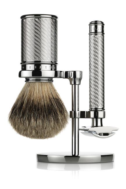 Image of BAXTER OF CALIFORNIA Safety Razor, Badger Hair Brush Shave Set