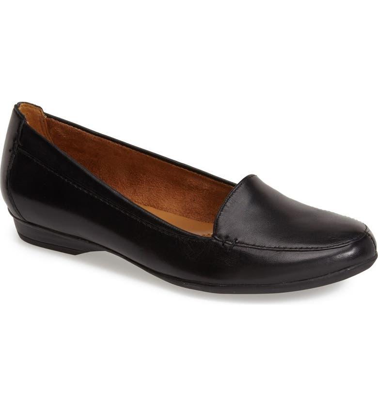 NATURALIZER 'Saban' Leather Loafer, Main, color, BLACK