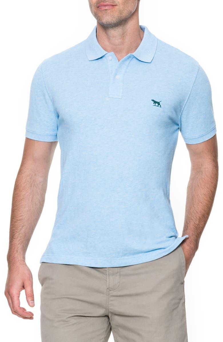 RODD & GUNN 'The Gunn' Piqué Sports Fit Cotton Polo, Main, color, AQUAMARINE
