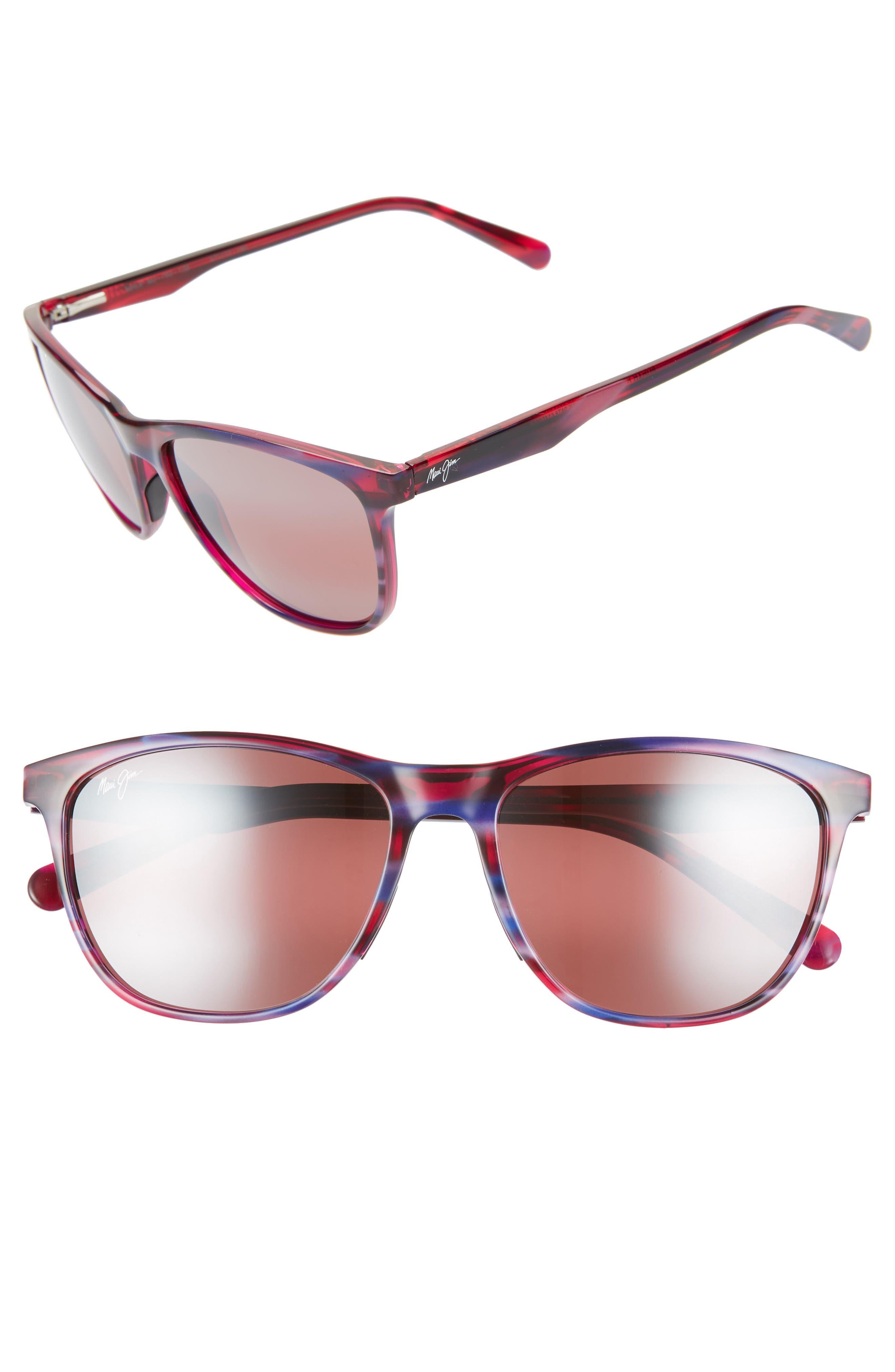 Maui Jim Sugar Cane 57Mm Polarizedplus2 Sunglasses - Lilac Sunset/ Maui Rose