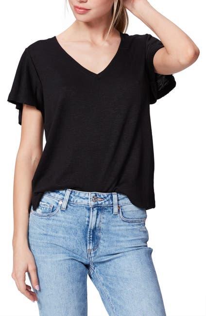 Image of PAIGE Rochel Ruffle Sleeve T-Shirt