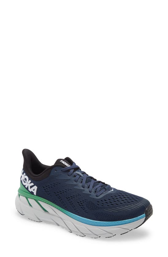 Hoka One One Clifton 7 Running Shoe In Moonlit Ocean/ Anthracite