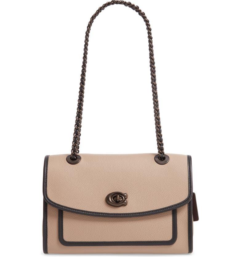COACH Parker Leather Shoulder Bag, Main, color, 269