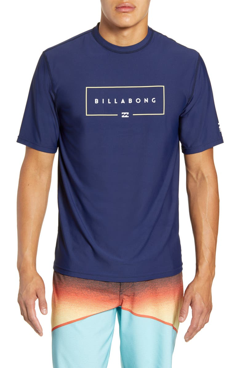 BILLABONG Union Loose Fit Short Sleeve Rashguard, Main, color, 415