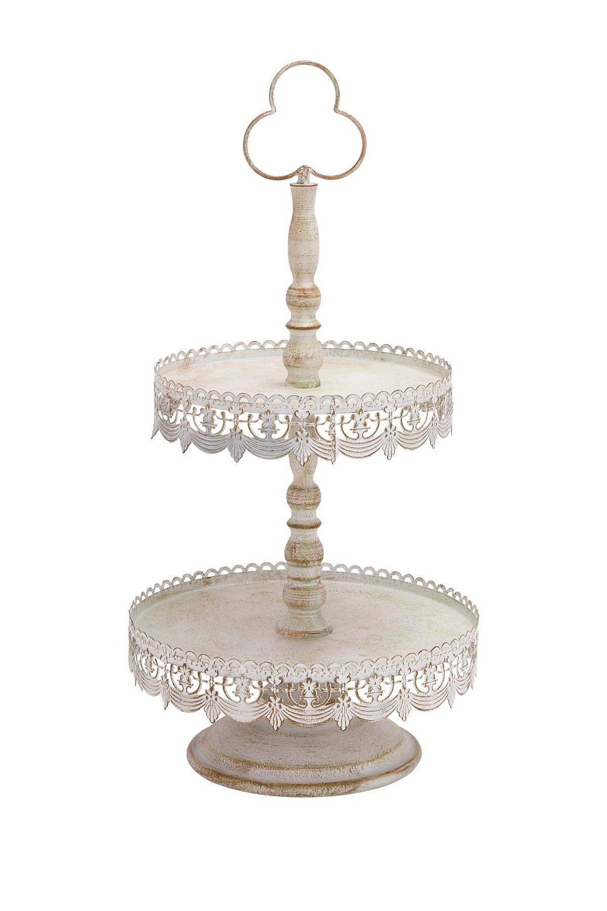 Willow Row Brown/White Metal 2-Tier Tray at Nordstrom Rack