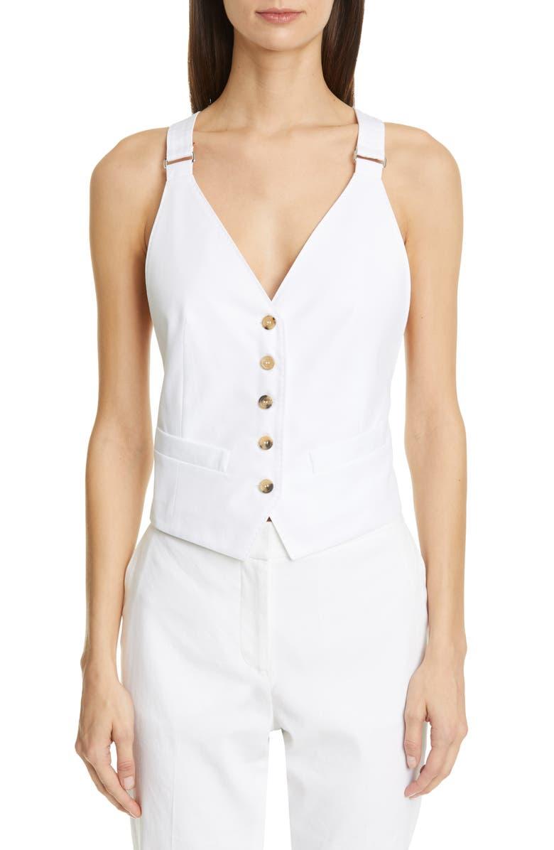 MAX MARA Remo Vest, Main, color, OPTICAL WHITE