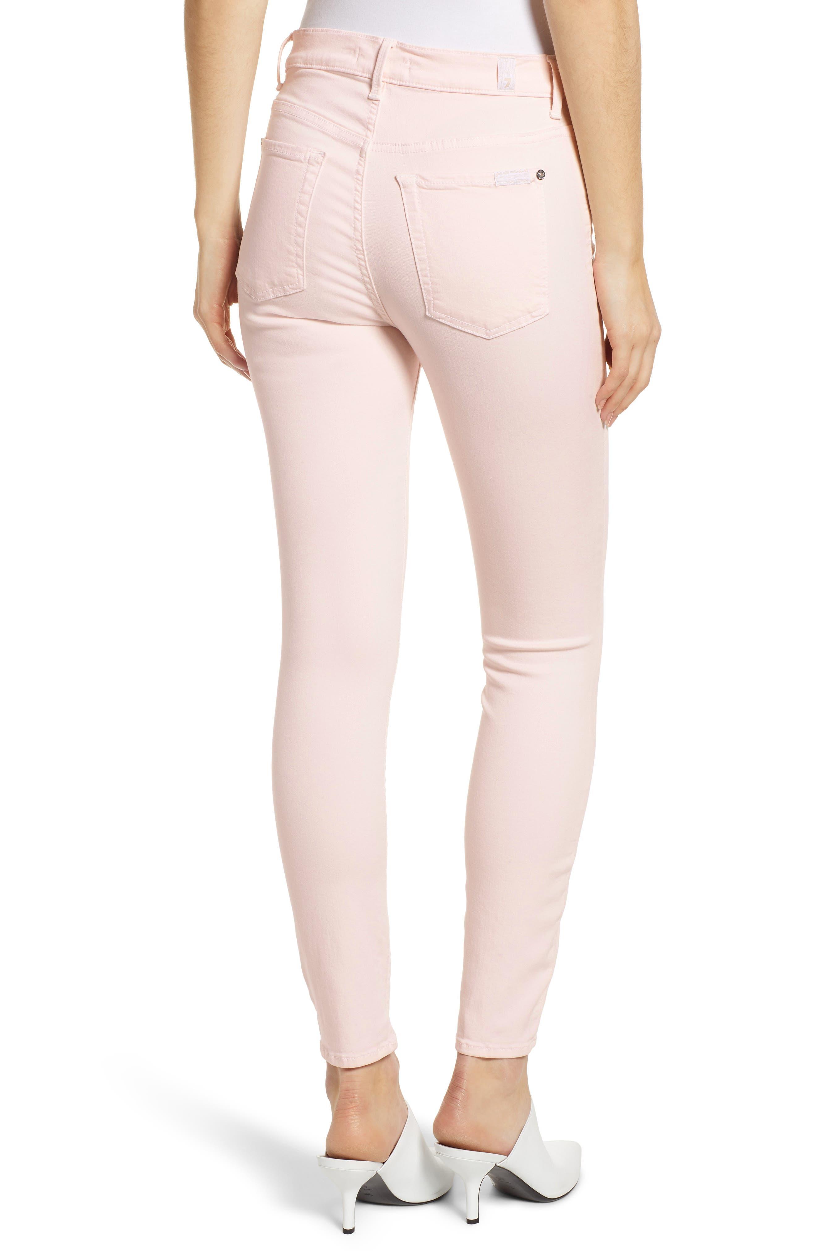 ,                             High Waist Ankle Skinny Jeans,                             Alternate thumbnail 2, color,                             PINK SUNRISE