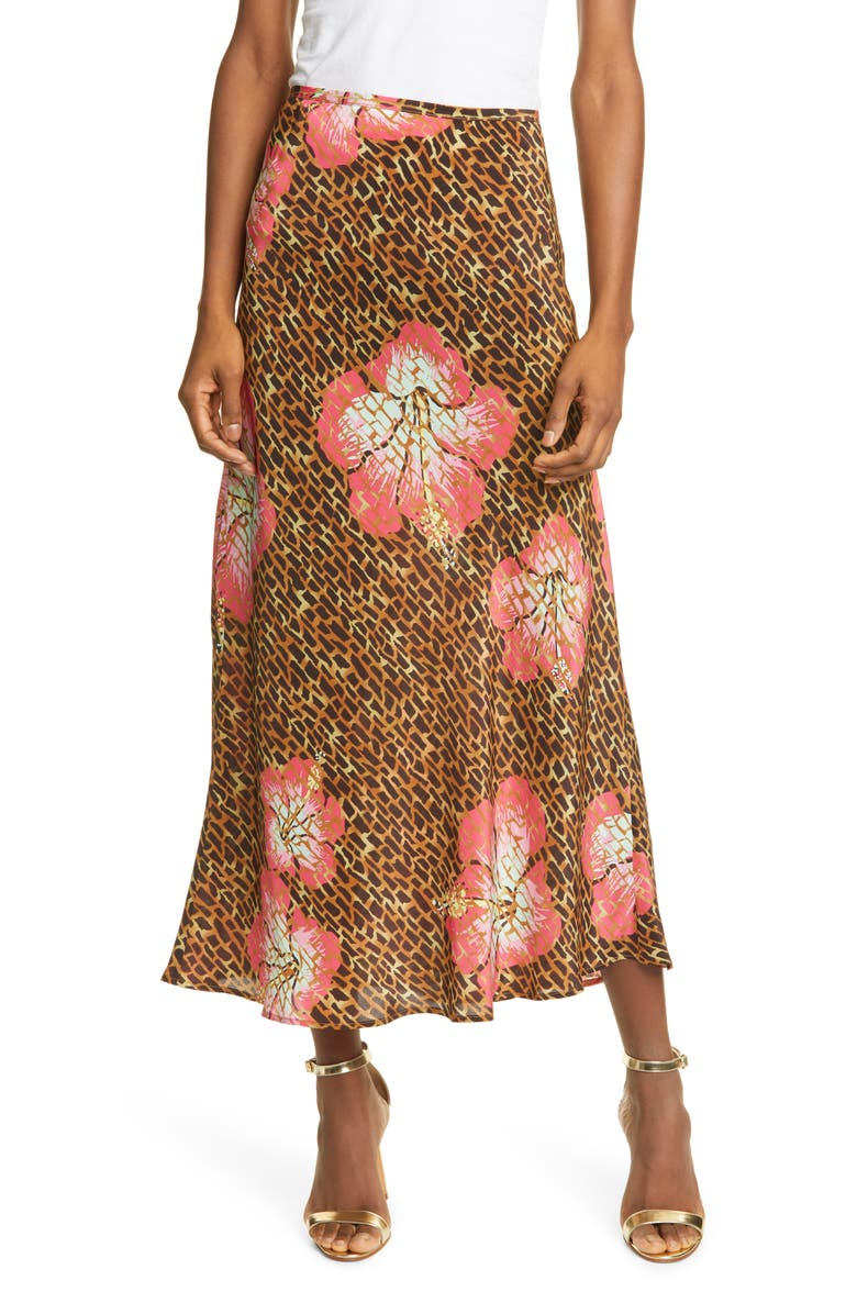 RIXO Kelly Silk Midi Slip Skirt, Main, color, 200
