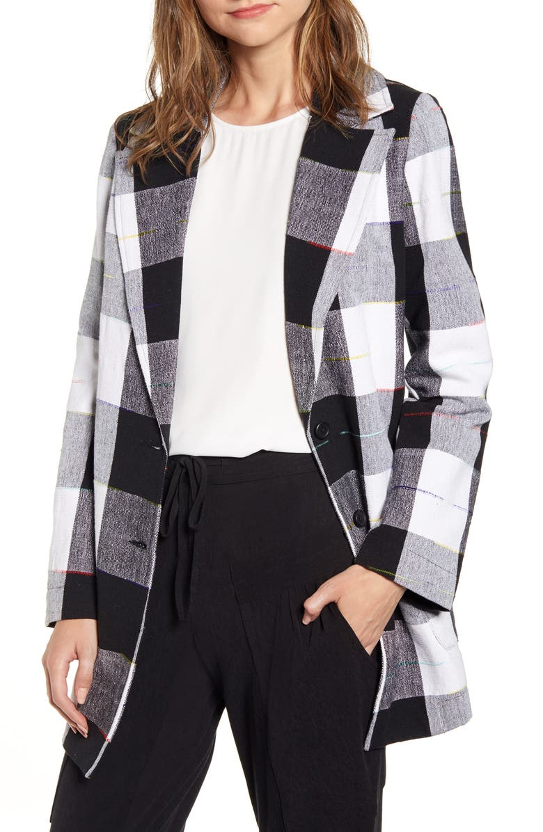 THE ODELLS Artist Buffalo Plaid Cotton Coat, Main, color, CAIRO