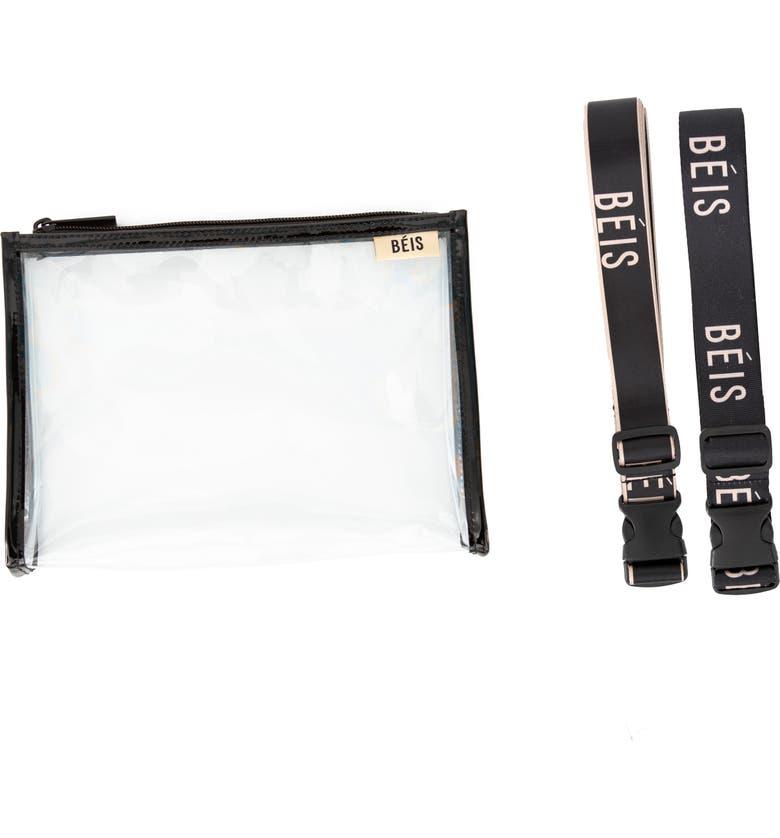 BÉIS The Luggage Straps Set, Main, color, BLACK