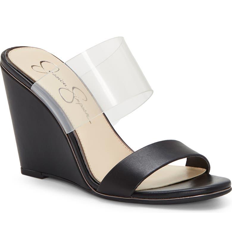 JESSICA SIMPSON Winsty Wedge Slide Sandal, Main, color, 001