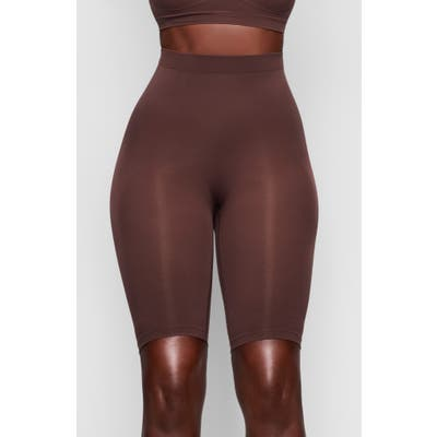 Plus Size Skims Sculpting Seamless Above The Knee Shorts, X/5X - Brown