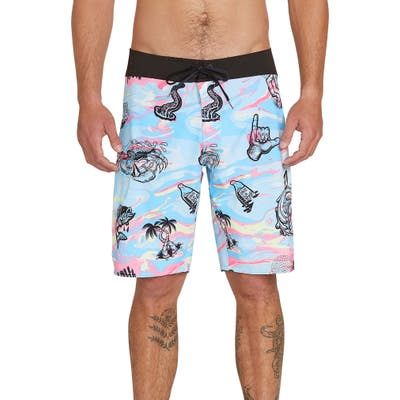 Volcom Save Our Oceans Board Shorts, Blue