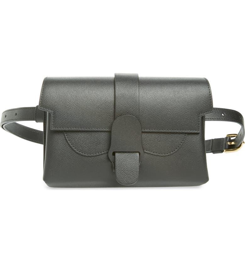 SENREVE Aria Leather Belt Bag, Main, color, 001