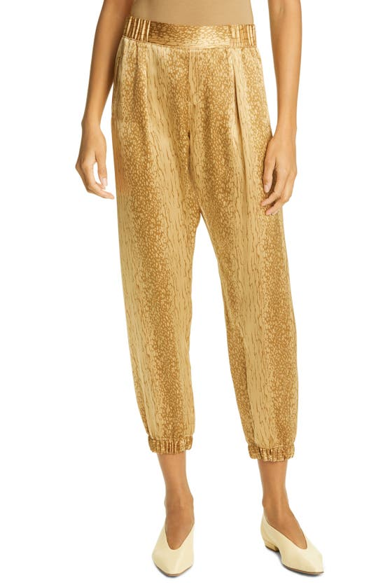 ATM ANTHONY THOMAS MELILLO Cropped pants CRACKED PAINT SILK CHARMEUSE CROP PANTS