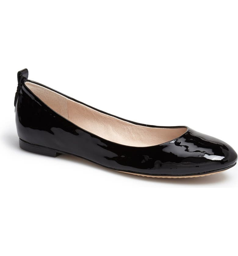 VINCE CAMUTO 'Benningly' Patent Leather Ballet Flat, Main, color, 001