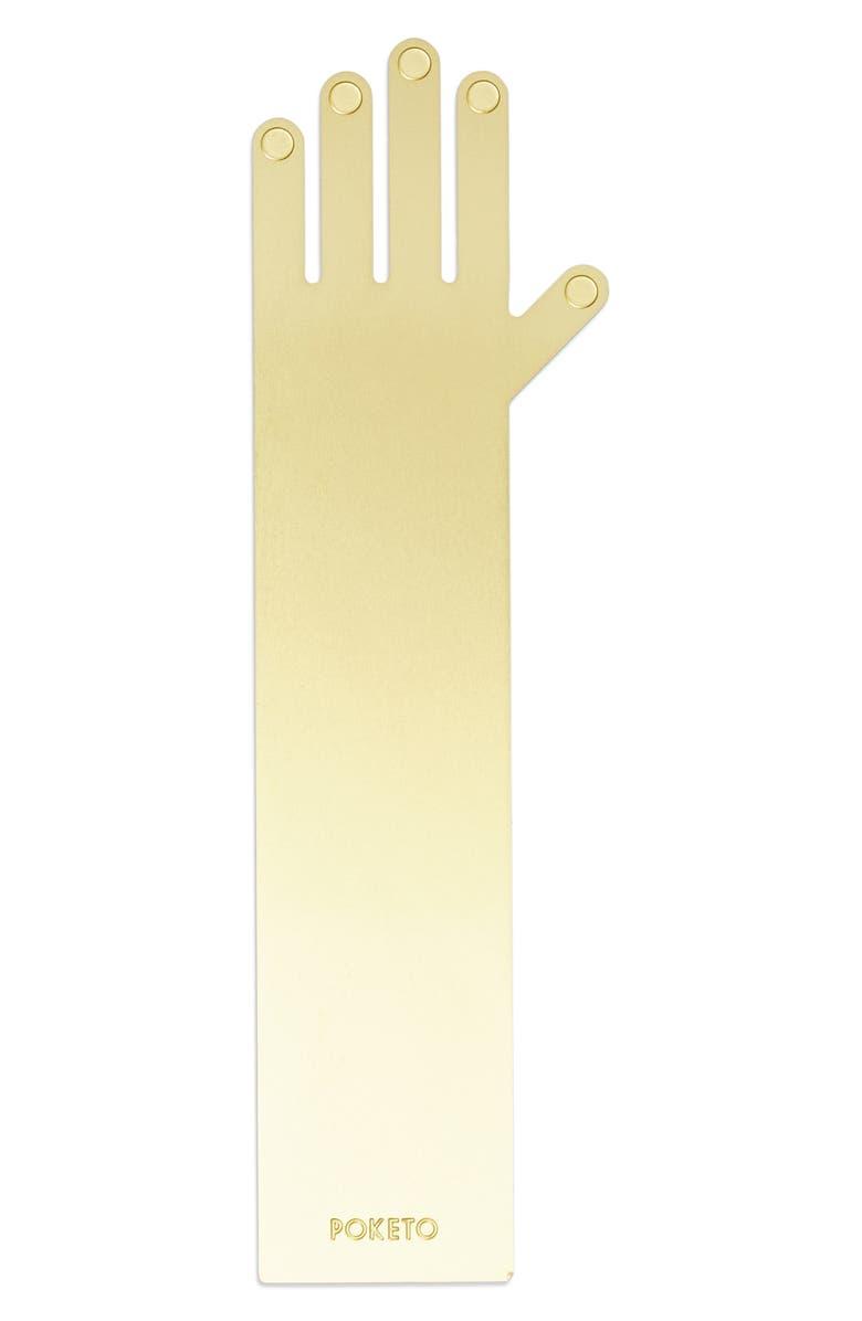 POKETO Brass Hand Bookmark, Main, color, 040