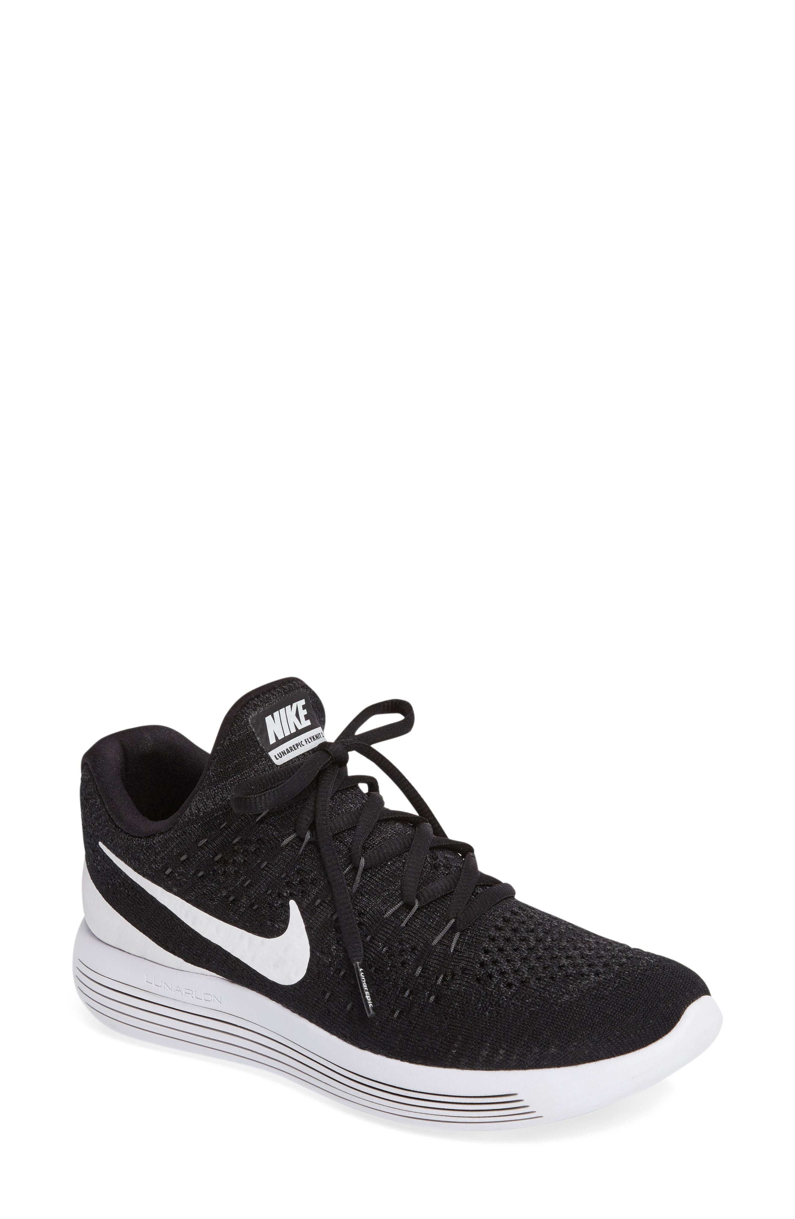 ,                             LunarEpic Low Flyknit 2 Running Shoe,                             Main thumbnail 7, color,                             001