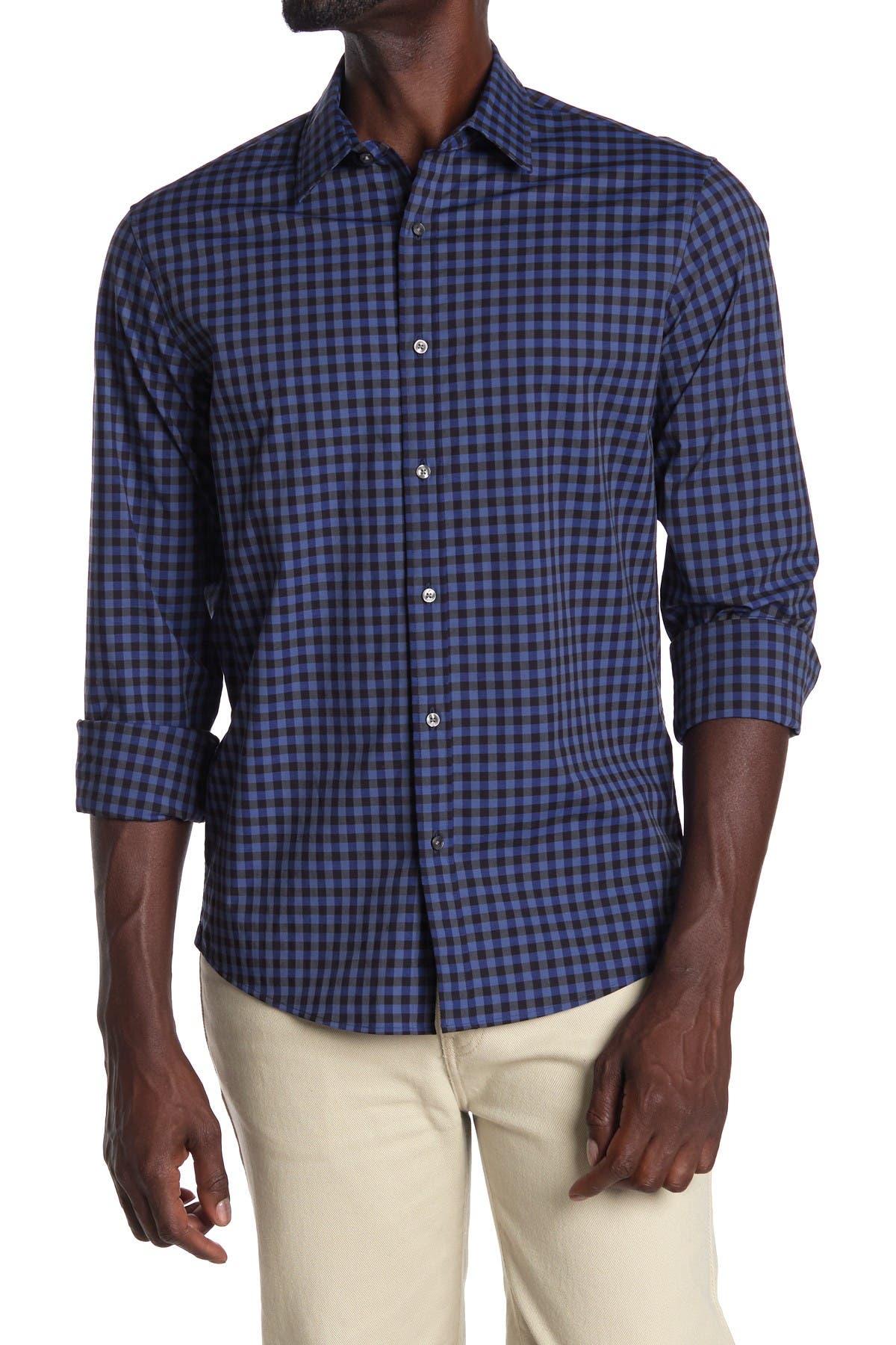 Image of Michael Kors Brady Gingham Check Slim Fit Shirt