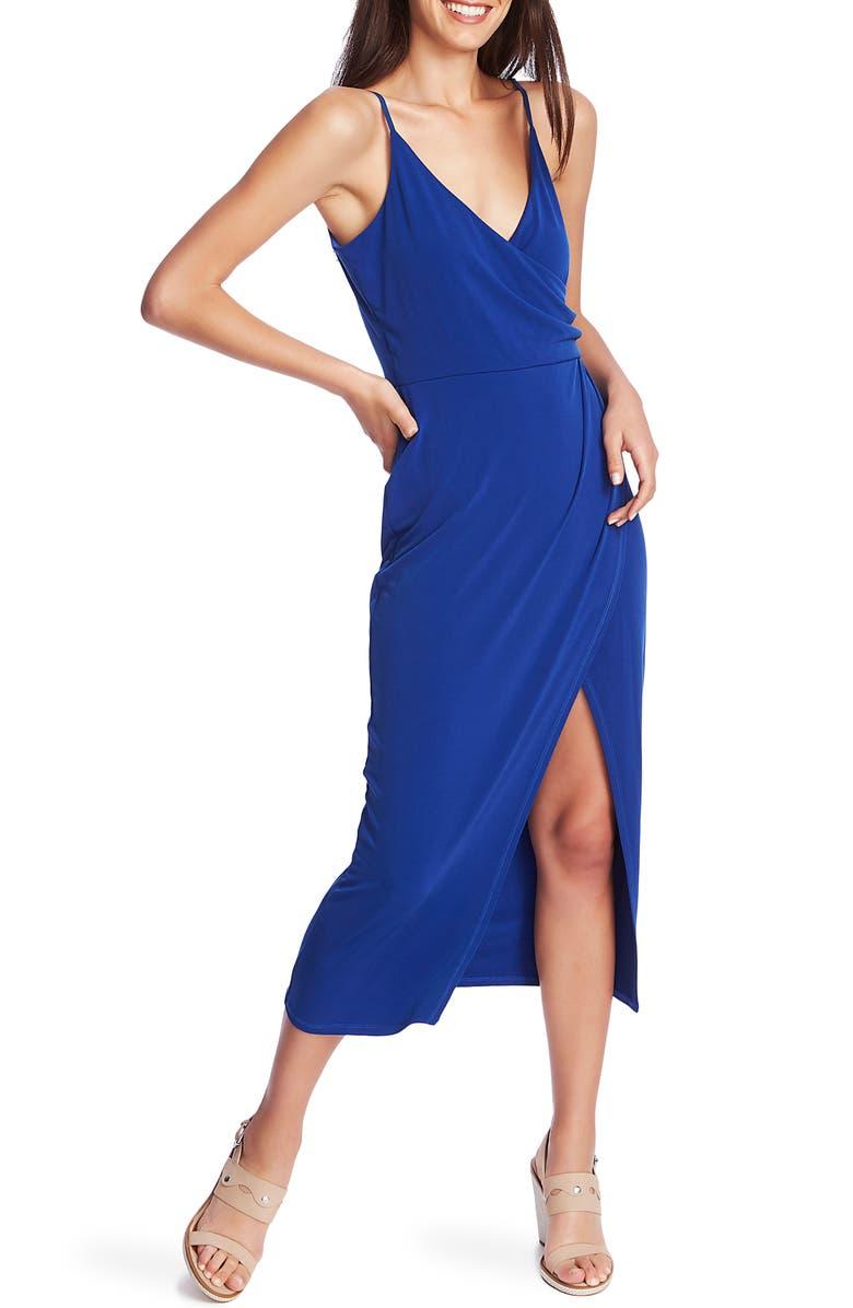 1.STATE Faux Wrap Midi Dress, Main, color, 455