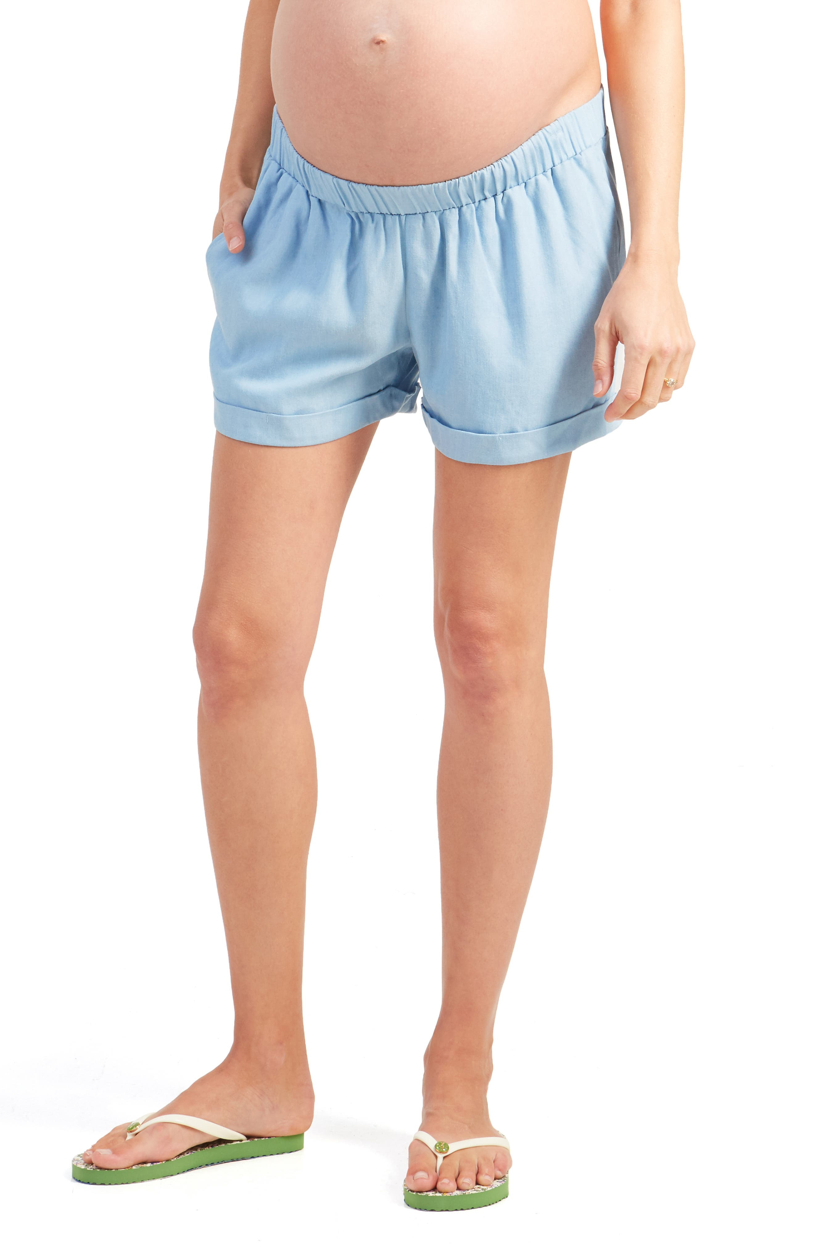 Ingrid & IsabelR Women's Ingrid & Isabel Under Belly Elastic Waist Shorts,  X-Small - Blue