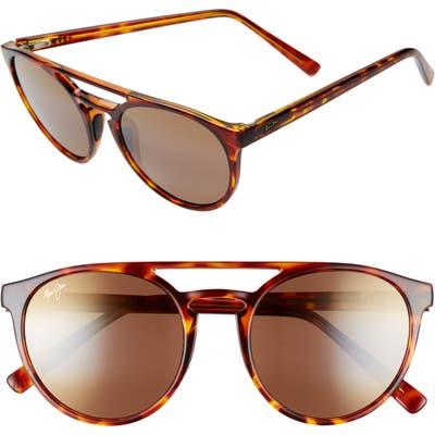 Maui Jim Ah Dang! 52Mm Polarizedplus2 Flat Top Sunglasses - Tortoise/ Bronze