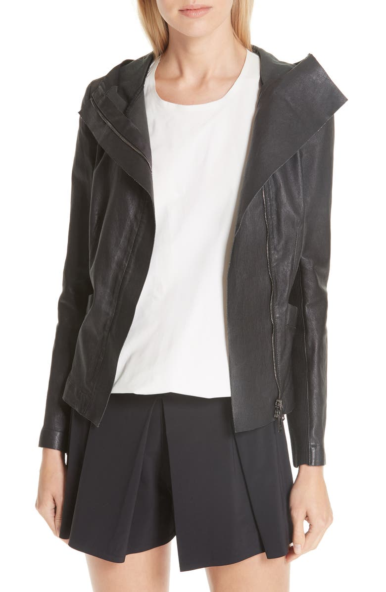 MISSION STATEMENT Passion Leather Jacket, Main, color, 001