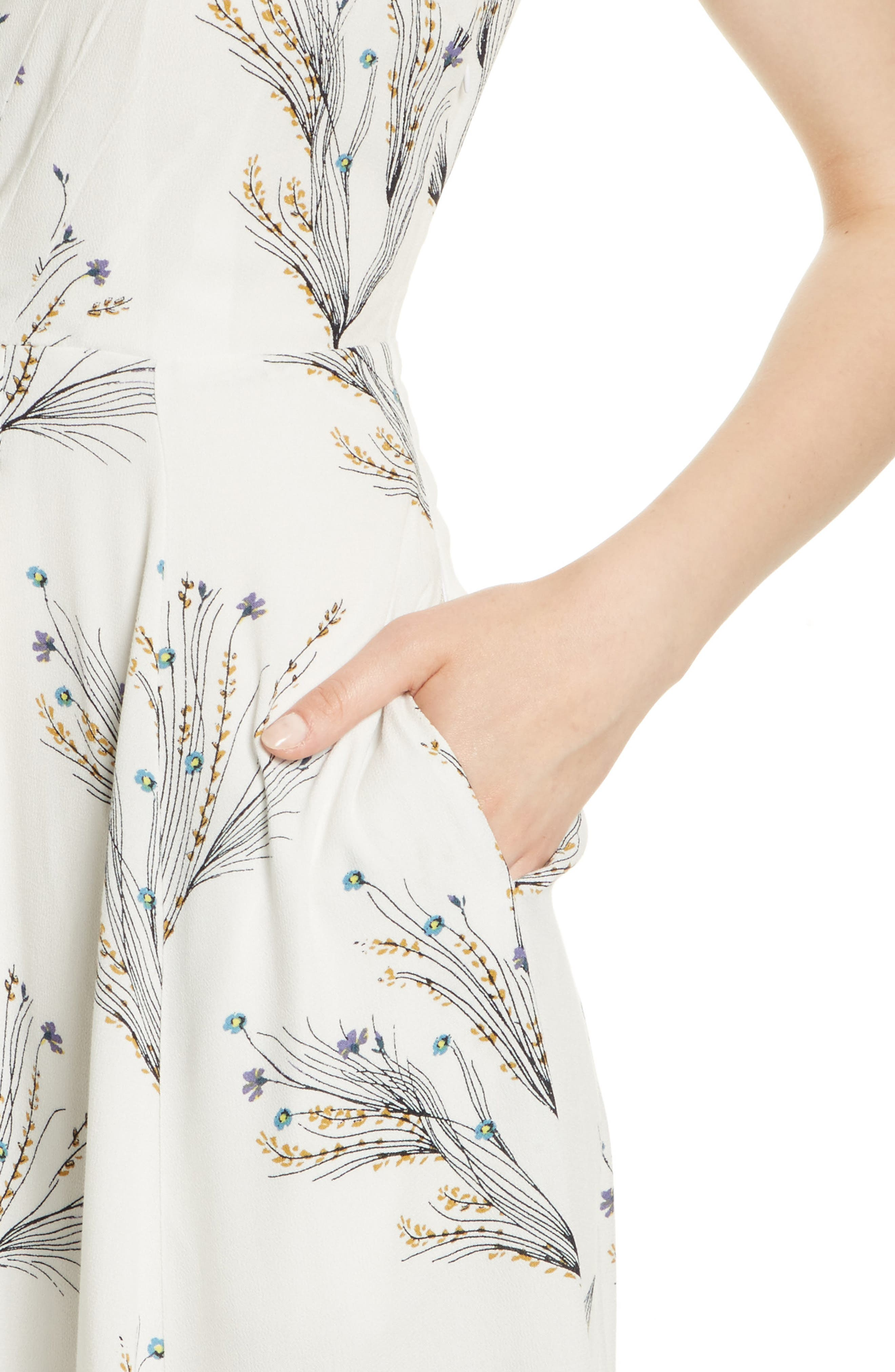,                             Print Retro Midi Dress,                             Alternate thumbnail 19, color,                             903