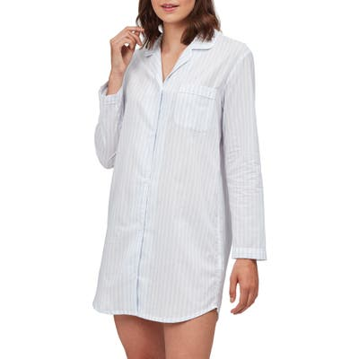 The White Company Stripe Cotton Voile Nightshirt, White